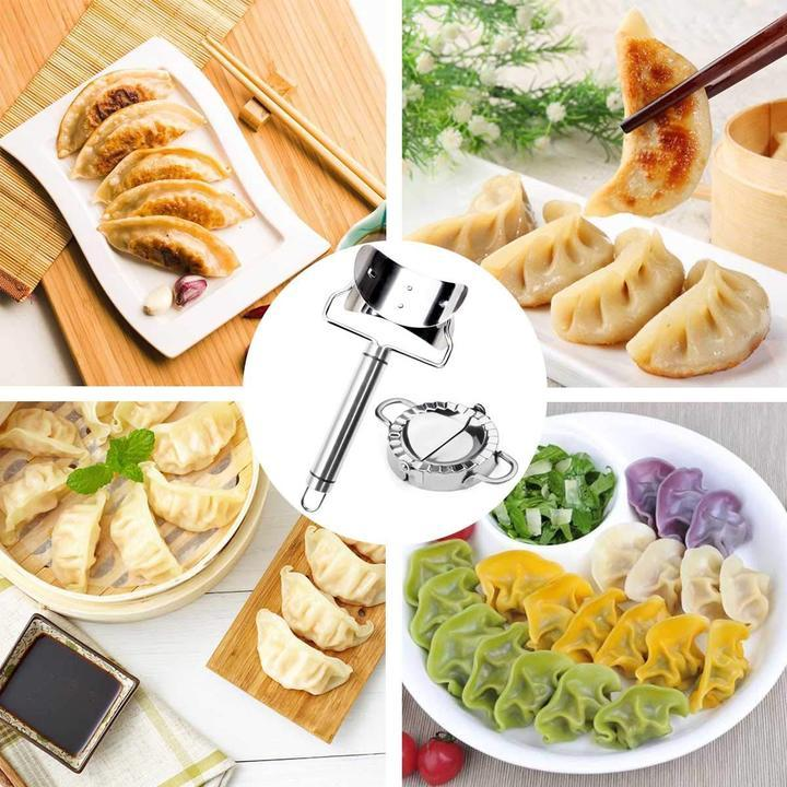 Dumpling Mould Set of 2pcs - DIY Mold Wrapper Cutter Making Machine Cooking Pastry Kitchen Tools Maker Device - 5econds.co