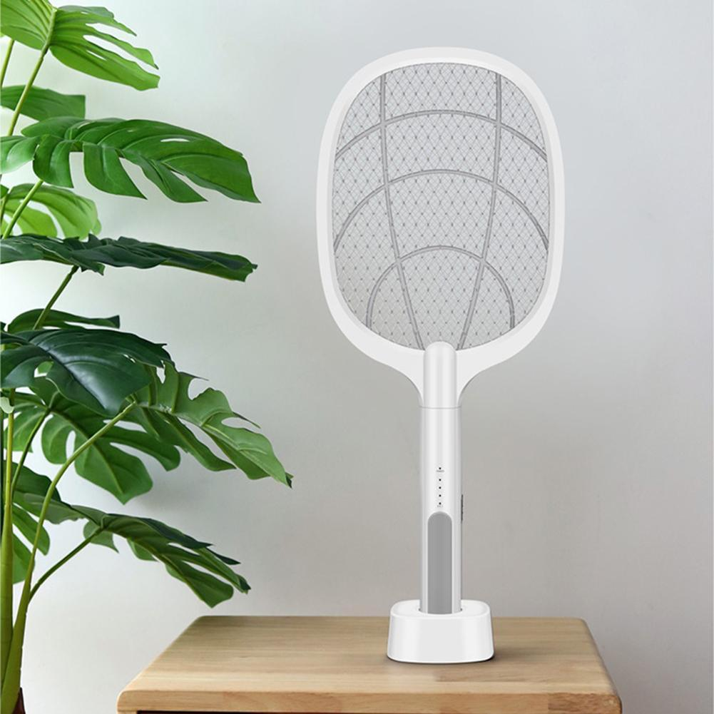 Bug Swatter - 3000V Electric Rechargeable Mosquito Fly Bug Killer Trap Insect Racket Zapper USB 1200mAh