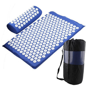 Acupressure Therapy Combo - Massager Cushion Massage Yoga Mat Relieve Stress Back Body Pain Spike - 5econds.co