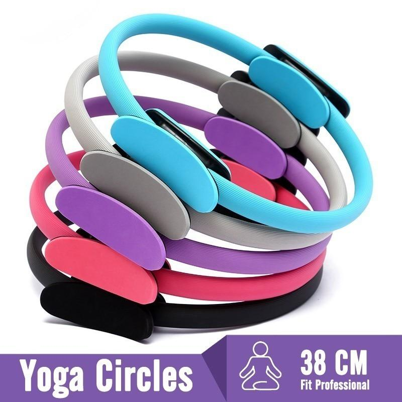 Pilates Ring Dual Grip Trainer - Yoga Ring Gym Workout Home Circle Sport Ring Women Fitness Kinetic Resistance