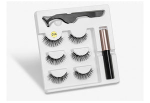 Magnetic Youth Eyelash - 3 Pairs Magnetic Eyelashs set Magnet Liquid Eyeliner Lashes Tweezer Set Waterproof Long Lasting Extension - 5econds.co