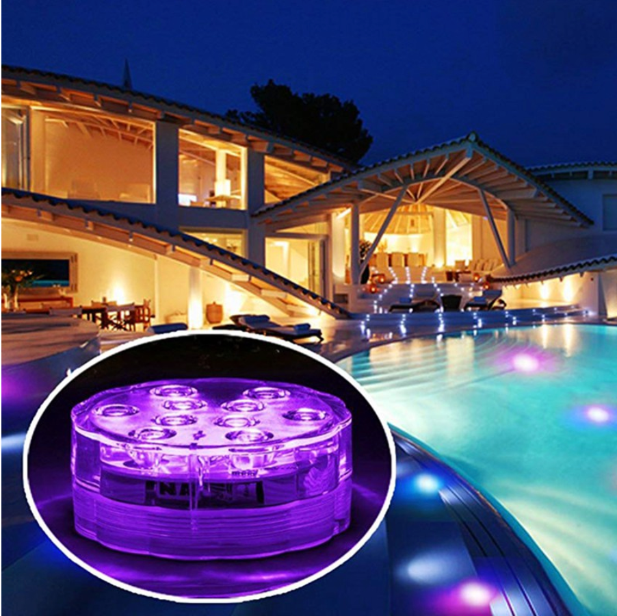 LEDFantasy™ - Change Any Backyard From 'Meh' To 'Wow' - IP68 Waterproof 16 Color Submersible LED Lights - 5econds.co