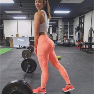 Booty Lifting & Anti-Cellulite Fitness Leggings - High Waist Women Workout Push Up Legging Fashion Solid Color Bodybuilding Pants - 5econds.co