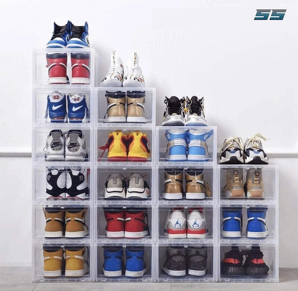 60% OFF - Storage Box & Shoe Box - Transparent shoe box dustproof storage box can be superimposed combination shoe cabinet Clamshell shoe organizer - 5econds.co