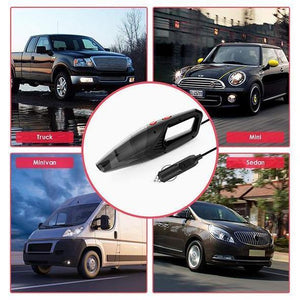 120W Car Vacuum Cleaner - Portable Handheld Cordless/Car Plug 12V 5000PA Super Suction Wet/Dry for Car Home - 5econds.co