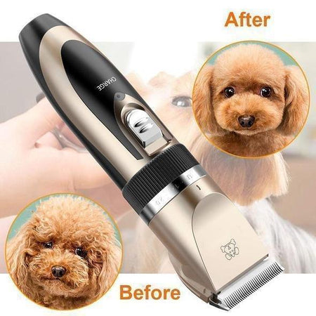 Noise-Free Design Pet Hair Clipper - Rechargeable Dog Trimmer Animal Grooming Cat Cutter Machine Shaver Electric Scissor Remover Haircut - 5econds.co