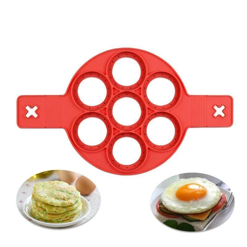 Flip Cooker - Non Stick Egg Pancake Maker Ring Kitchen Baking Omelet Moulds Flip cooker Egg Ring Mold - 5econds.co