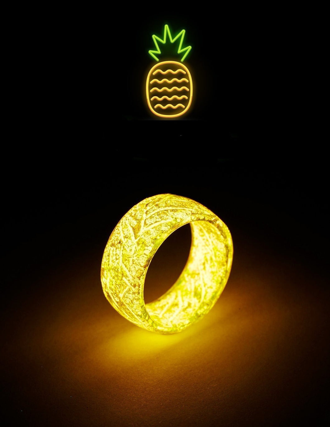 GLOWING RING COLLECTIONS - Resin Punk Luminous Glowing In The Dark Wedding Band Fluorescent Rings For Women Men Gift - 5econds.co