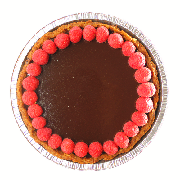 Gluten Free Dark Chocolate Ganache Pie