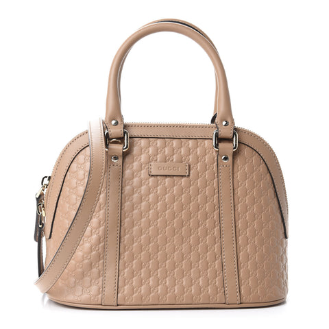 GUCCI Beige Guccissima Leather Small Dome Shoulder Bag