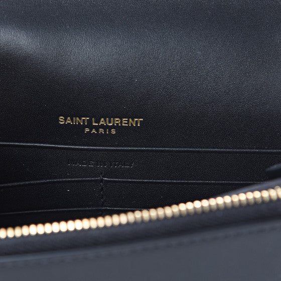 YVES SAINT LAURENT Black Leather Kate Tassel Wallet Crossbody Bag