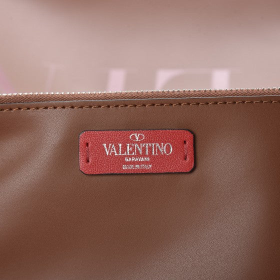 VALENTINO Brown Leather Tote Bag