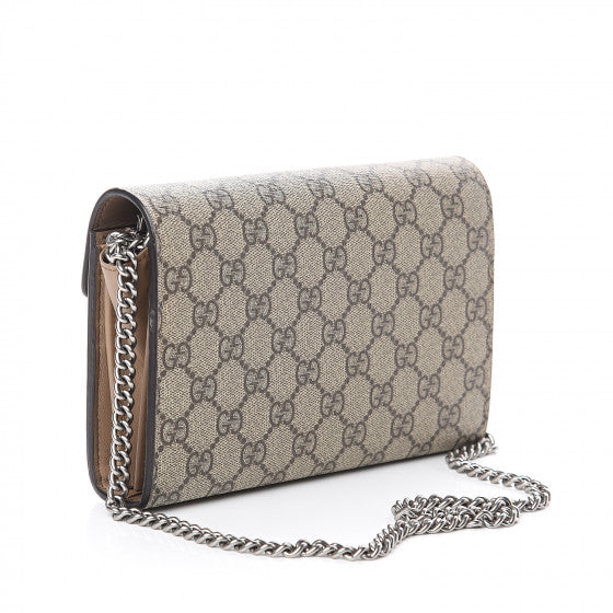 GUCCI Beige Monogram Dionysus Wallet Shoulder Bag