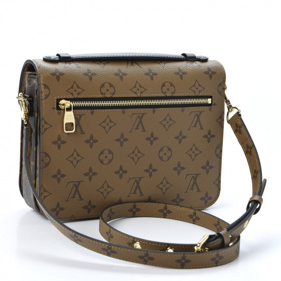 LOUIS VUITTON Brown Reverse Monogram Metis Shoulder Bag