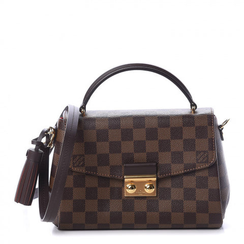 LOUIS VUITTON Croisette in Damier Ebene Print Shoulder Bag