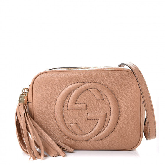 GUCCI Beige Leather Soho Disco Shoulder Bag