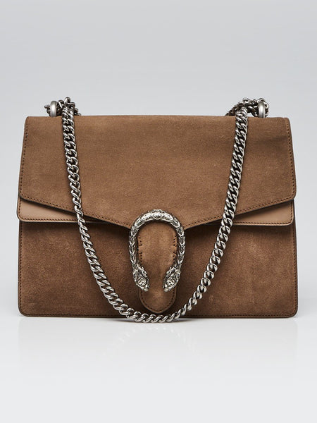 GUCCI Brown Suede Dionysus Shoulder Bag