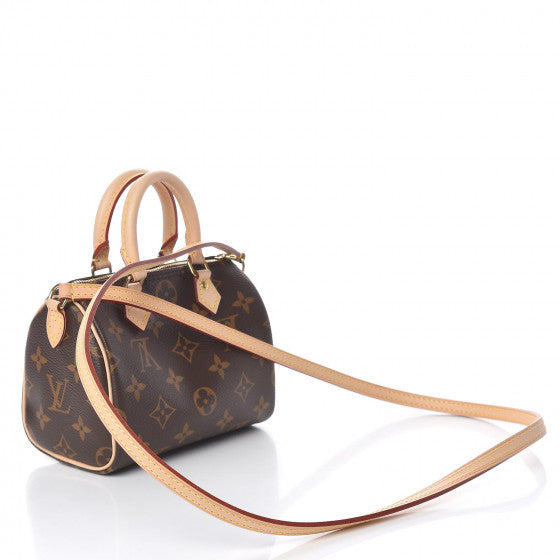 LOUIS VUITTON Monogram Nano Speedy Shoulder Bag