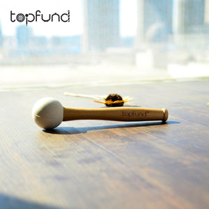 TOPFUND One Rubber Mallet and for Playing Quartz Crystal Singing Bowls