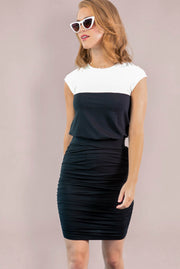 Ashton Shirred Pencil Skirt - Black