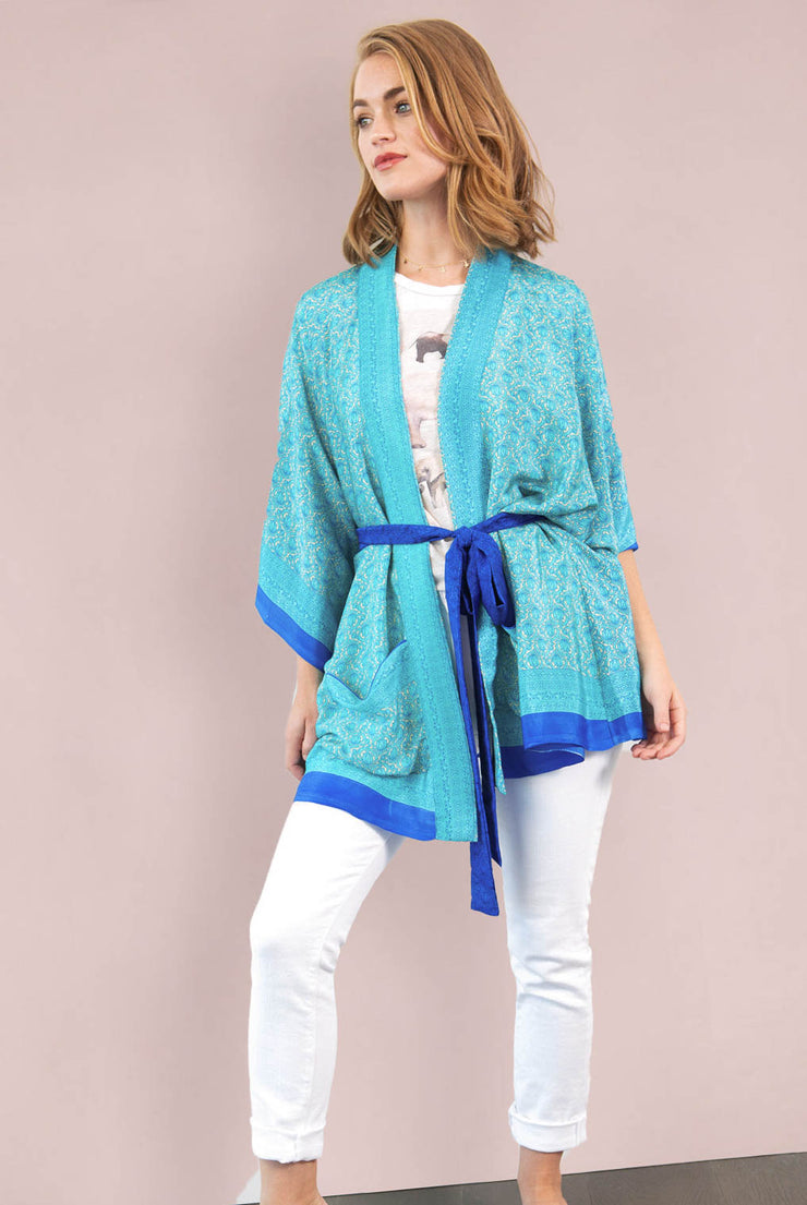 Bright Blue Lotus Robe