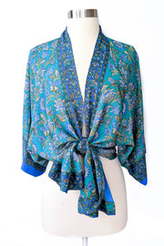 Turquoise Floral Duster Robe