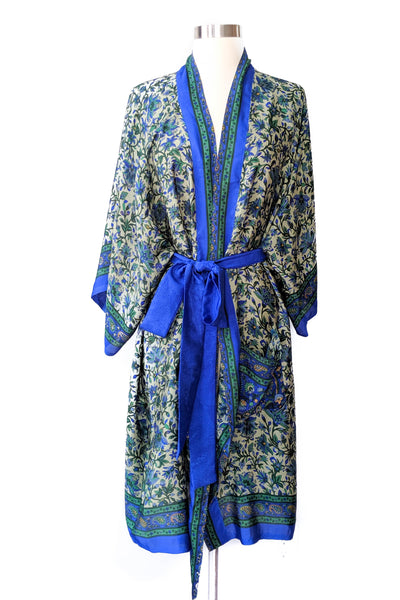 Cornflower Blue Floral Robe