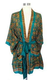 Tropical Green Beach Robe, Short