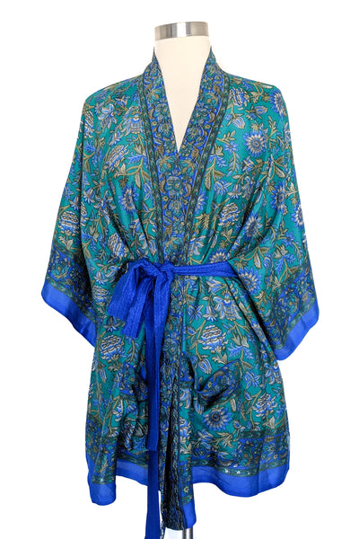 Blue Sunflower Convertible Robe, Short