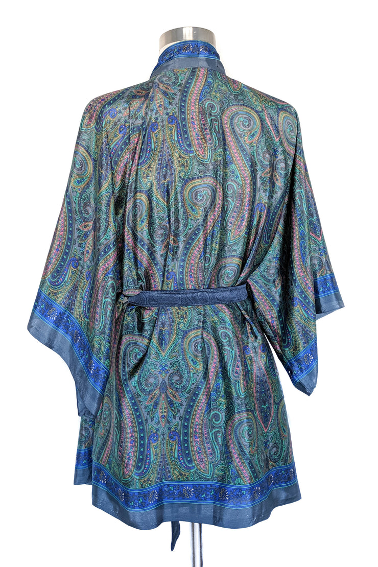 Light Blue Paisley Wrap, Short