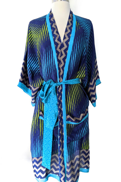 Electric Striped Duster Robe