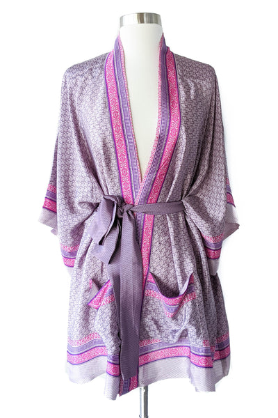 Romantic Lavender Feather Boho Wrap, Short