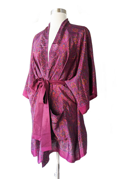 Sexy Berry Belted Kimono, Short