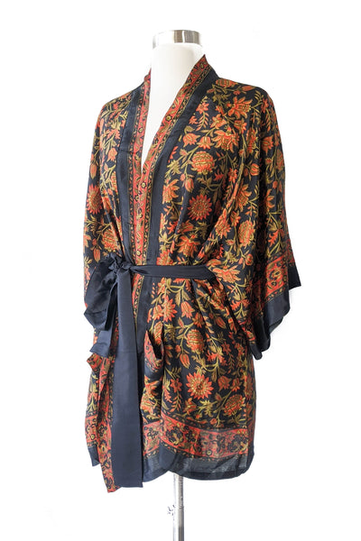 Dark Sunflower Convertible Robe, Short