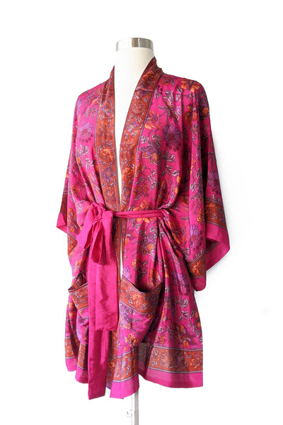 Pink Beach Lounge Robe, Short