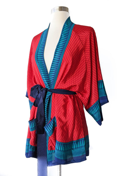 Lipstick Red Short Robe