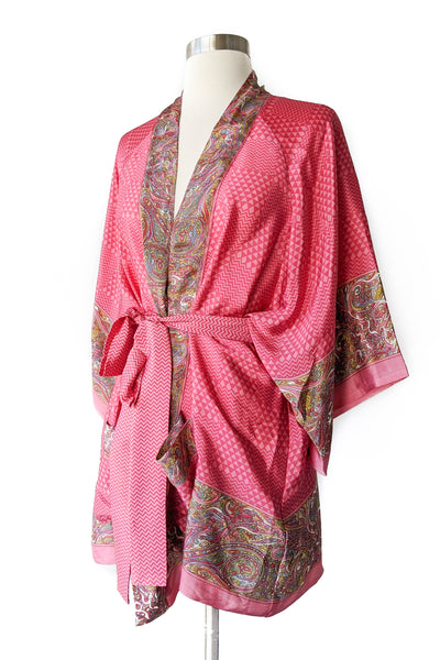 Salmon Belted Robe, Short