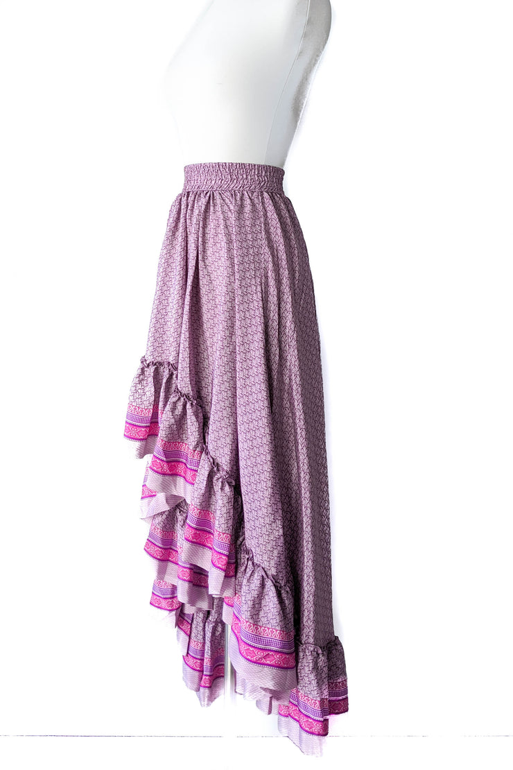 Maria Hi Low Maxi Skirt - Hot Pink Floral