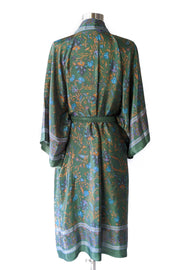 Olive Green Floral Robe