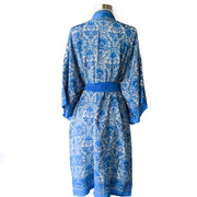 Traditional White Blue English Robe