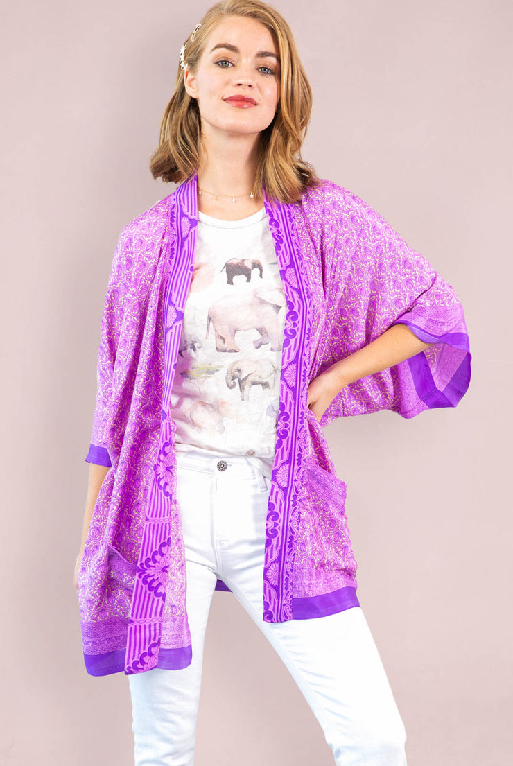 Purple Lotus Tunic Robe