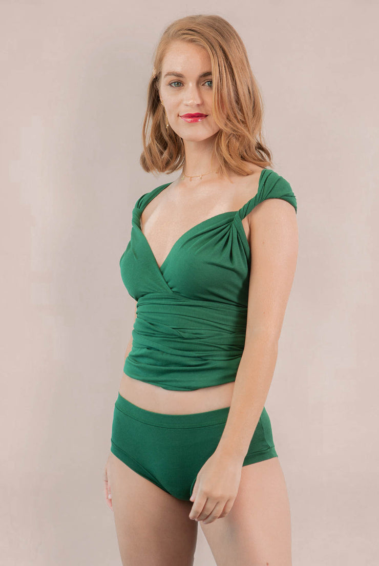 Womens Organic Cotton  Bamboo Underwear Green