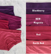 Womens Organic Cotton  Bamboo Underwear Red