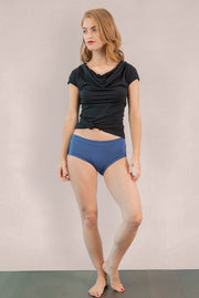 Womens Organic Cotton  Bamboo Underwear Blue Indigo