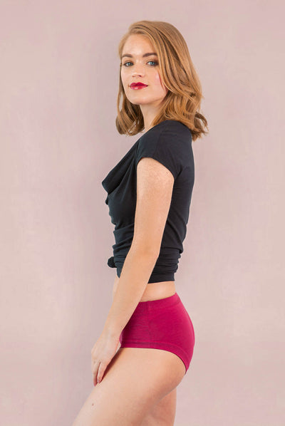 Womens Organic Cotton  Bamboo Underwear Earth Red