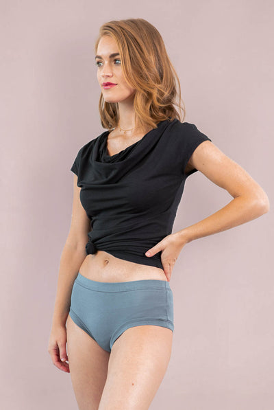 Womens Organic Cotton  Bamboo Underwear Blue Mirage