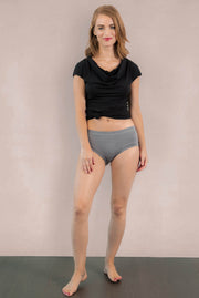 Womens Organic Cotton  Bamboo Underwear Light Grey