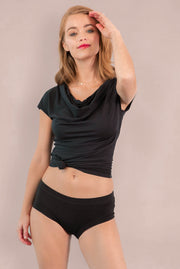 Womens Organic Cotton  Bamboo Underwear Black