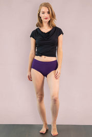 Womens Organic Cotton  Bamboo Underwear Blackberry