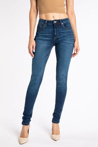Mid Rise, Medium Wash, Super Skinny Jean